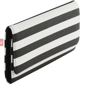 KUT From The Cloth Slim Stripped Wallet